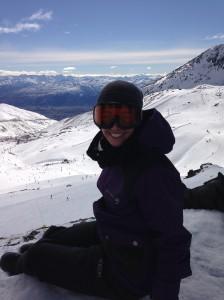 Snowboarding at Remarkables